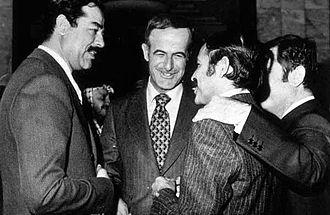 Abdelaziz Bouteflika - Bouteflika in the 1970s with Saddam Hussein and Hafez al-Assad