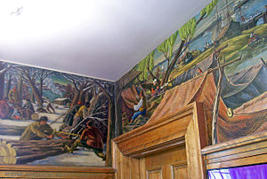 United States Post Office (Hyde Park, New York) - Some of Dows' murals
