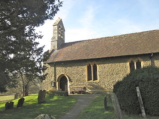 Hyssington Village in the county of Powys, Wales