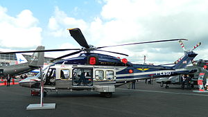AgustaWestland AW189 - A Weststar Aviation AW189 before delivery on display at 2014 Farnborough Air Show in England