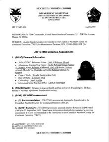 ISN 00095, Abd Al Rahman Ahmed's Guantanamo detainee assessment.pdf