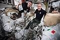 ISS-61 Andrew Morgan and Luca Parmitano check spacesuits and tools in the Quest airlock.jpg