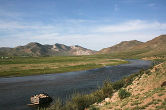 Ider River - Ider River near Jargalant, Khövsgöl