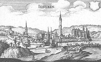 Idstein - Idstein – Extract from Topographia Hassiae by Matthäus Merian the Younger, 1655