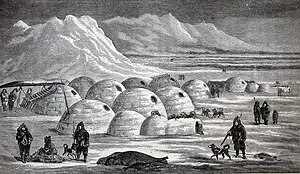 Vernacular Architecture on Community Of Igloos  Illustration From Charles Francis Hall  S Arctic