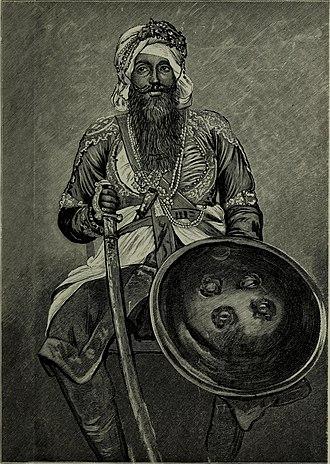 Nabha State - Sir Hira Singh, Raja of Nabha (c.1843-1911).