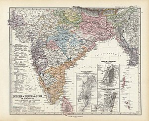 Adolf Stieler - Image: India and Inner Asia