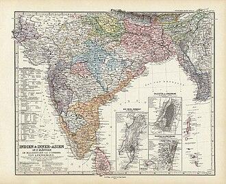 Adolf Stieler - Image: India and Inner Asia
