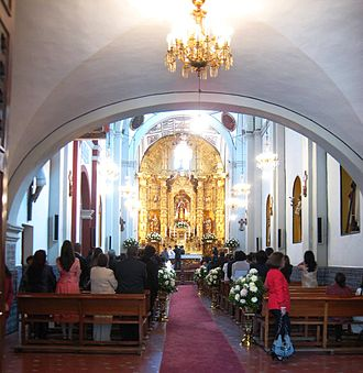 San Ángel - Inside the chapel of El Carmen