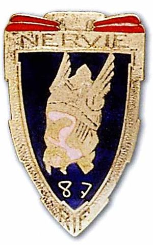 Fortified Sector of Maubeuge - Insignia of the 87th RIF.