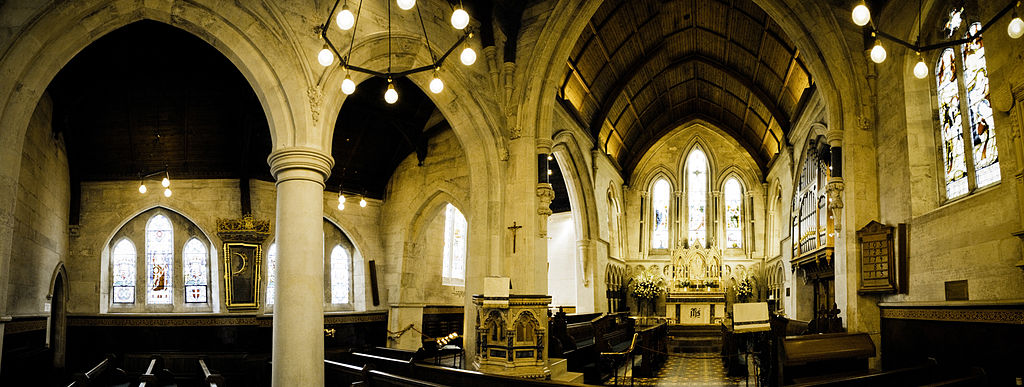 Intérieur de l'église anglicane St. Alban à Copenhague. Photo de Mstyslav Chernov