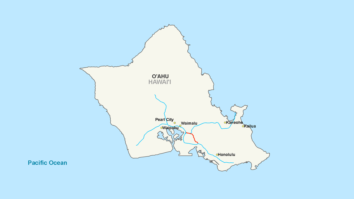 Pearl City Route Map