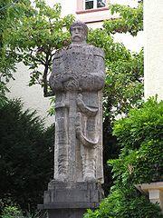 Memorial statue in Baden-Baden