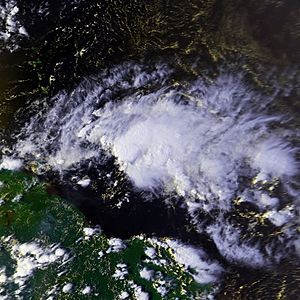 Tropical Storm Isaac on September 30 at approx...