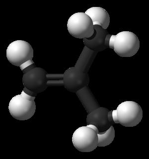 Isobutylene - Image: Isobutylene 3D balls
