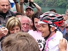 Ivan Basso in maglia rosa al Giro d'Italia 2006.