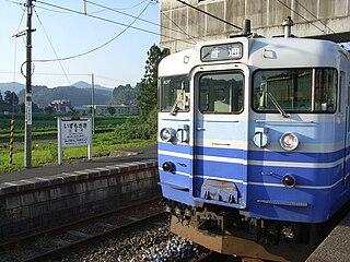 Echigo Line railway line in Niigata prefecture, Japan