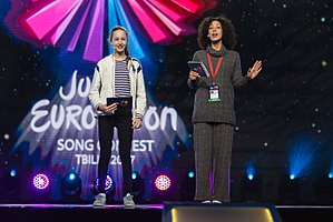 Junior Eurovision Song Contest 2017 - Japaridze and Kalandadze during dress rehearsal