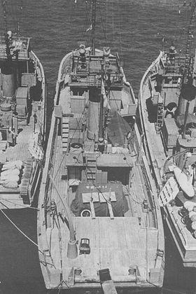 1960年に撮影された おとしま MSI-681... 第百三十四号哨戒特務艇 1960年に撮影