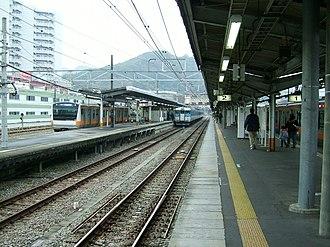 Takao Station (Tokyo) - JR Takao Station platforms, November 2008