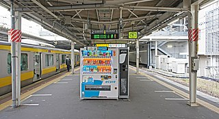 Chiba Station Railway and monorail station in Chiba, Japan