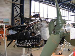 Junkers Jumo 213 - Junkers Jumo 213E-1 at Flugmuseum Aviaticum in Wiener Neustadt, Austria