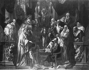 Der zwölfjährige Jesus im Tempel (Kopie nach)