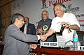 Jairam Ramesh giving away the Empower India 2008 Award for energy efficiency to one of the awardee, at the 1st Foundation Day of Urjavaran Foundation, in New Delhi on July 23, 2008.jpg