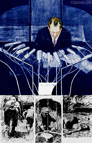 James Gill (artist) - James Gill painting The Machines (1965)