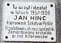 Jan Hinc plaque, Pieklo.jpg