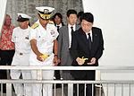 Japanese defense minister visits USS Arizona 130702-N-IT566-093.jpg