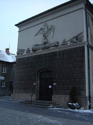 Wschodnia ściana arsenału z wejściem
