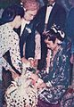 Javanese marriage, bride and groom being served food, Wedding Ceremonials, p34.jpg