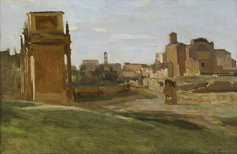 File:Jean-Baptiste Camille Corot - L'arc de Constantin et le forum.jpg