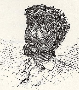 "Free Negro - Jean Baptiste Point du Sable, the first permanent settler in 1780s Chicago and the ""Father of Chicago"" who traveled up the Mississippi River from New Orleans"