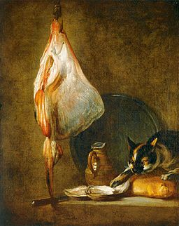 Jean Siméon Chardin - Still-Life with Cat and Rayfish - WGA04740