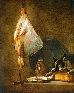 Jean Siméon Chardin - Still-Life with Cat and Rayfish - WGA04740