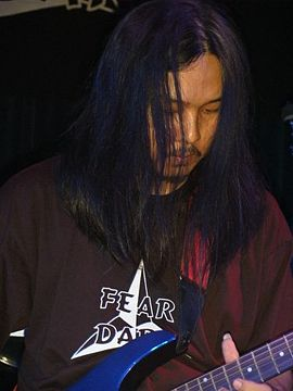 Jeff Arwadi of Kekal, the Netherlands, 2004 Jeff - Live in Holland 2004.jpg