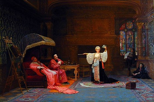 Jehan Georges Vibert --The Fortune Teller, private collection