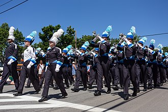 Jersey Surf Drum and Bugle Corps - The Jersey Surf Drum and Bugle Corps marches in the Bristol, Rhode Island Fourth of July Parade in 2017