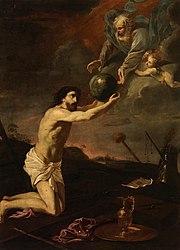 File:Jesucristo recibe el mundo de manos de Dios Padre (Museo del ...