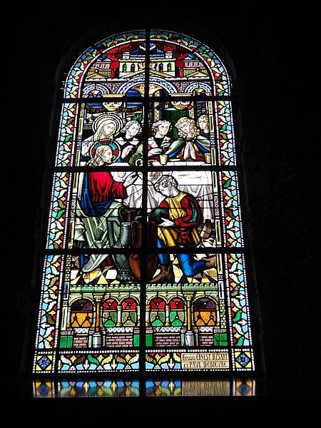 Jeumont (Nord, Fr) église St.Martin, vitrail 02 Les noces de Cana