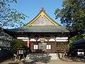 Jindaiji Temple hondo Sakura 2010.jpg
