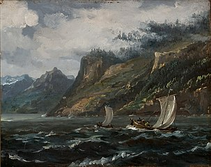 Coastal Landscape with Fishing Boats