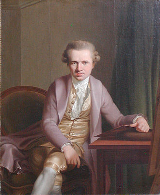 Johan Frederik Clemens - Johan Frederik Clemens as painted by Jens Juel in Paris 1776/1777.