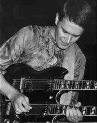 Jazz fusion - John McLaughlin performs during his Mahavishnu Orchestra period