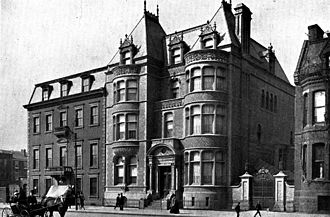 John G. Johnson - John G. Johnson Collection Museum (center), 510 South Broad Street, Philadelphia, PA. Part of Johnson's residence is visible at far right.