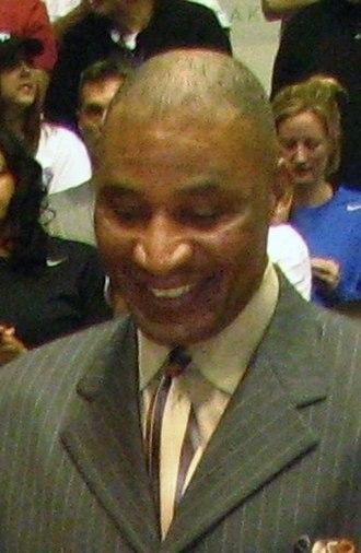 John Long (basketball) - Long at the dedication of Dick Vitale Court at the University of Detroit Mercy's Calihan Hall in 2011.