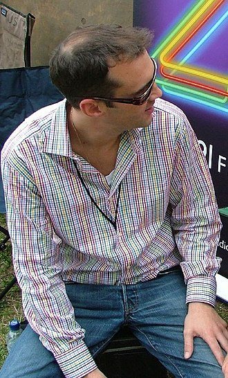 Johnny Vaughan - Johnny Vaughan at Live 8 in July 2005