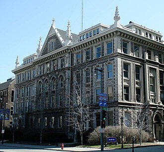 Diederich College of Communication - Johnston Hall, home to the college